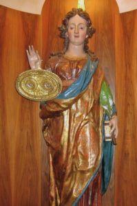 Statua lignea policroma di Santa Lucia
