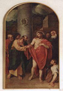 Incredulità di San Tommaso, Alessandro Varotari (detto il Padovanino), 1610.