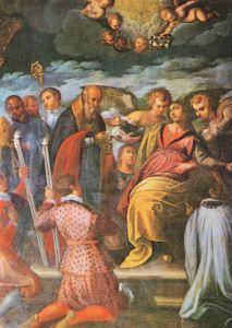 Ultima comunione di S. Lucia, nella parete sinistra del presbiterio
