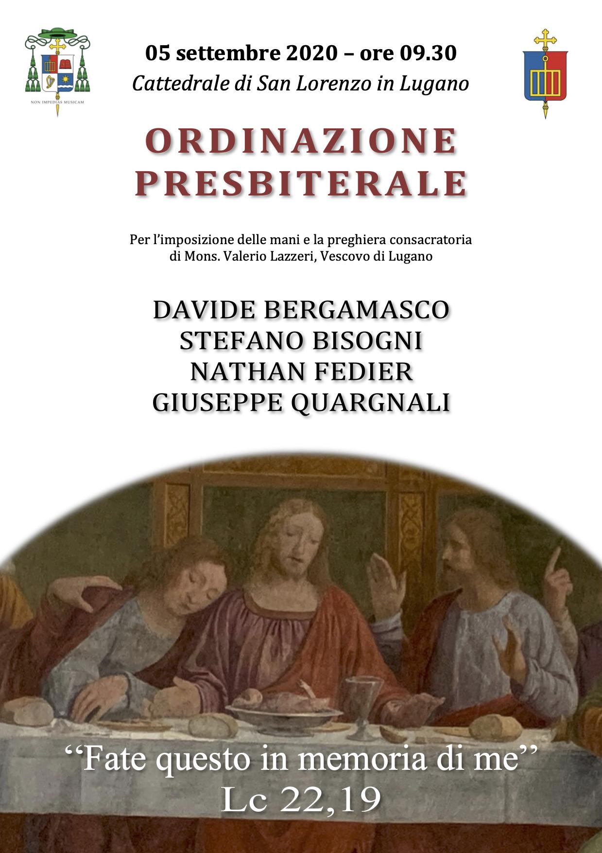 Manifesto Ordinazioni Presbiterali 2020