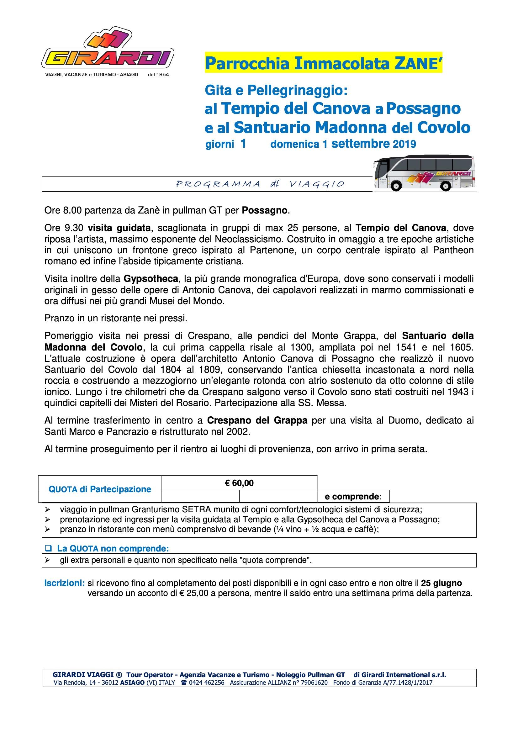 Possagno e Santuario Madonna del Covolo gg. 1 don Lucio (1)