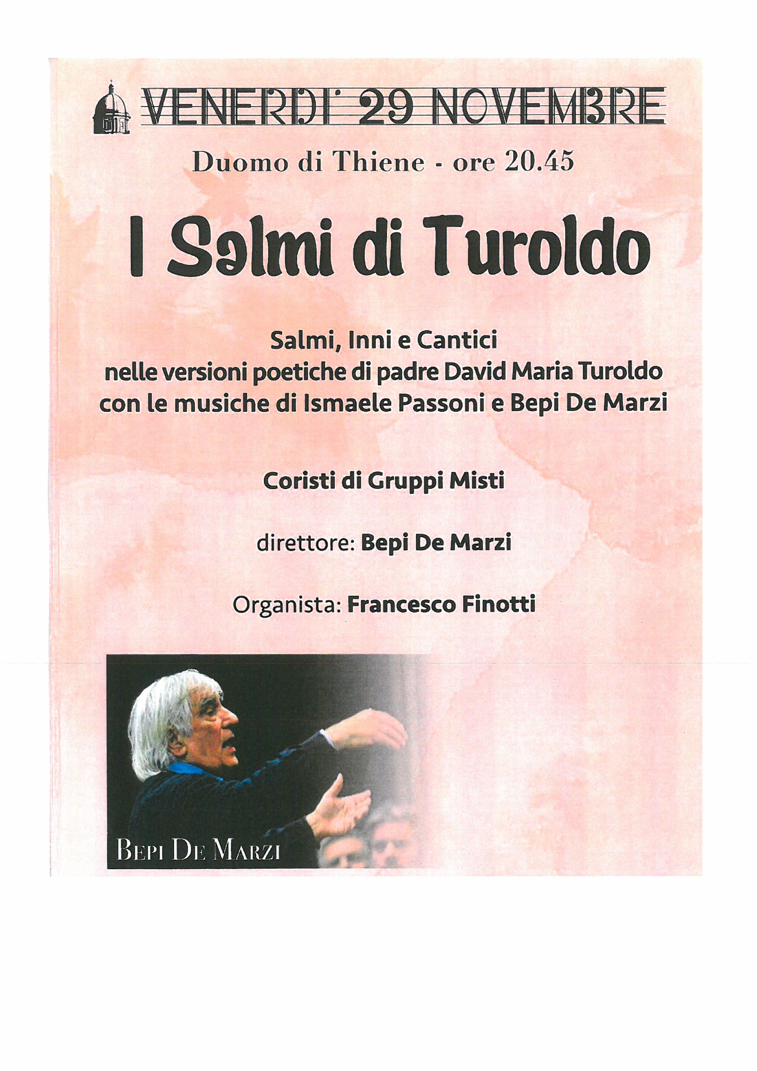 I Salmi di Turboldo con Bepi De Marzi