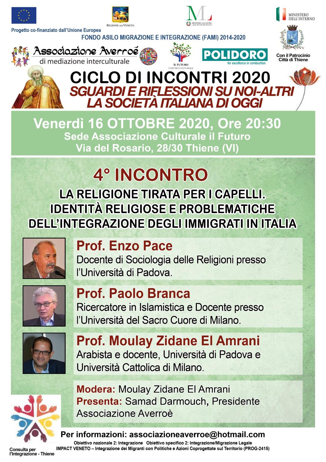 Locandina 4' incontro dialogo cristiano-islamico