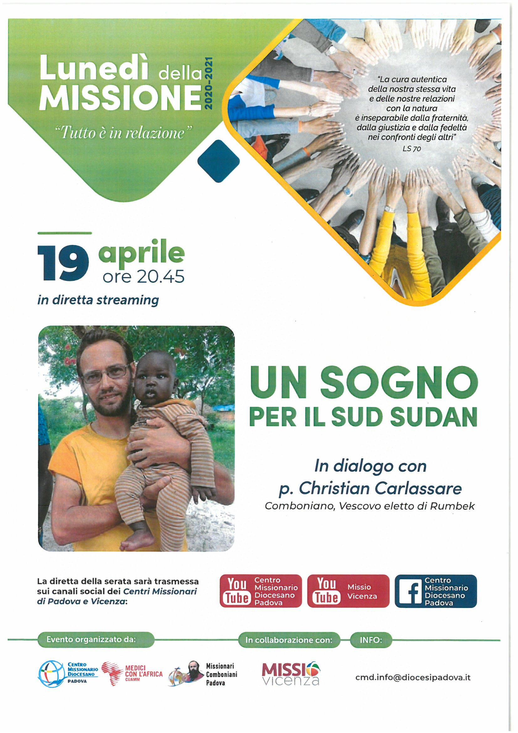UN SOGNO PER IL SUD SUDAN - In dialogo con P. Christian Carlassare